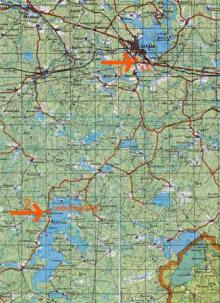 Карта проезда от Валдая
